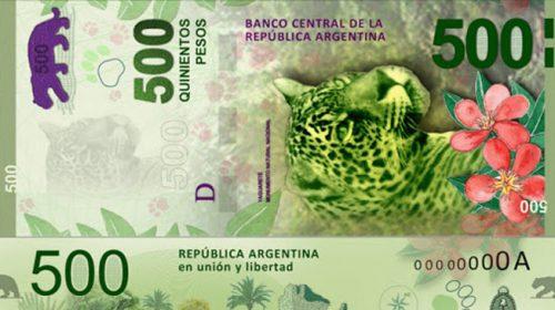 Este jueves entra en circulación el billete de 500 pesos