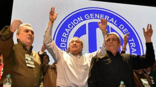 CGT: asumió el triunvirato con críticas a Macri y a los gremialistas ausentes
