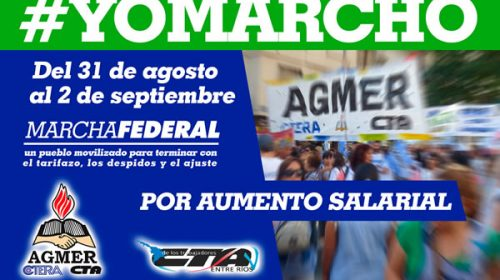 Partió desde Paraná una columna que se unirá a la Marcha Federal