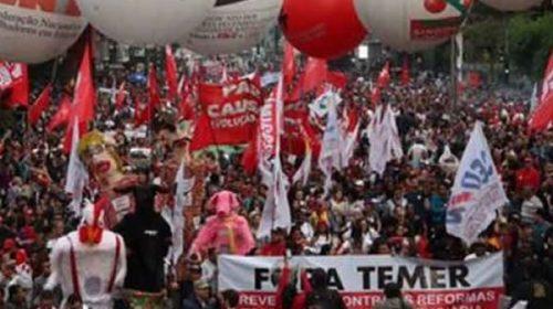 Con cortes de calles y protestas, comenzó la segunda huelga general contra Temer