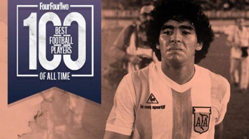 Los ingleses eligieron a Maradona como el mejor de todos los tiempos
