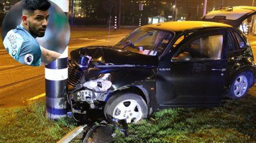 El Kun Agüero sufre un accidente en un taxi y se fractura una costilla