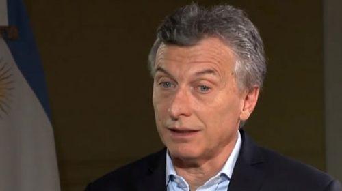 Macri no descarta presentarse a la reelección en 2019