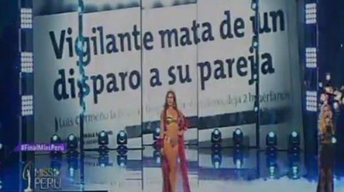 Las concursantes de Miss Perú presentaron cifras de feminicidio en vez de sus medidas