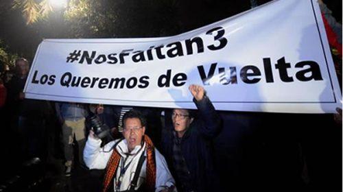#NosFaltan3, la etiqueta de un secuestro en Ecuador